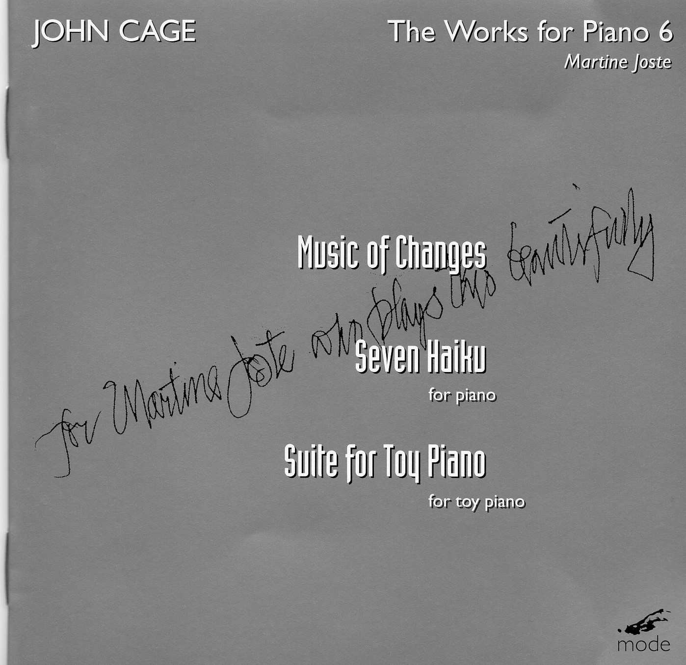 """The Works for Piano 6"" John Cage"