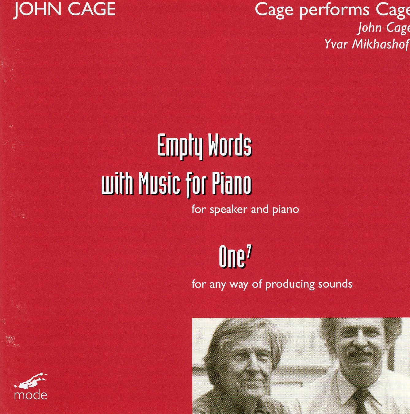 """Empty Words with Music for Piano"" John Cage"